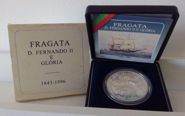 Moeda Proof 1000$00 Fragata D. Fernando II e Glória 1996