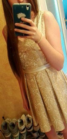 Suknia sukienka złota S
