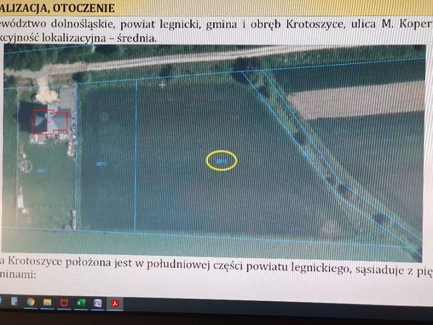 Działka Krotoszyce ,Syndyk ogłasza przetarg na sprzedaż