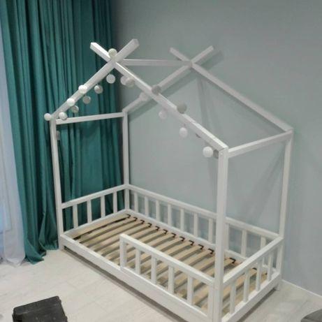 Детская кроватка-домик, Детская мебель, Кровать Монтессори