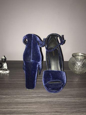 Sapatos de Veludo azul