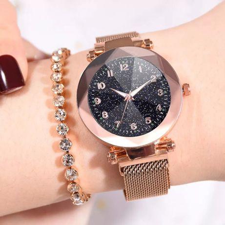 Nowy zegarek damski na magnes magnetyczny pasek zloty kolor