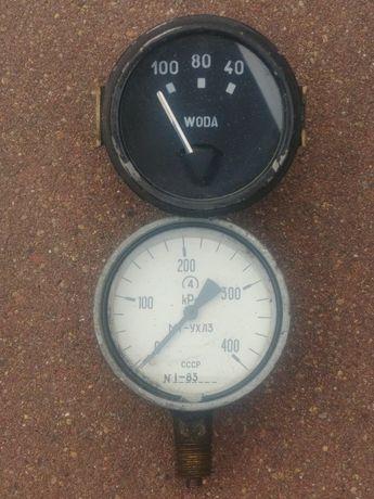 Manometr zegar wody kontrolka starocie PRL unikat okazja