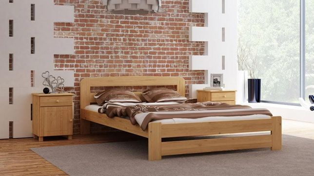 Meble Magnat łóżko drewniane sosnowe Lidia 120, 140, 160 kolory