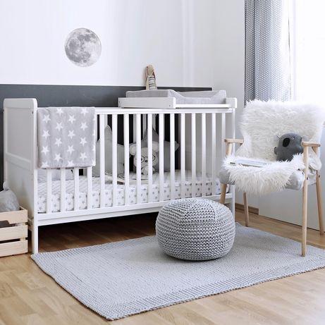 Białe łóżeczko woodies classic cot Bed + materac havea Krzyś