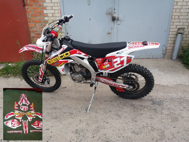 Наклейки для мото Питбайк Мотокросс Квадроцикл Geon Kayo Honda KTM