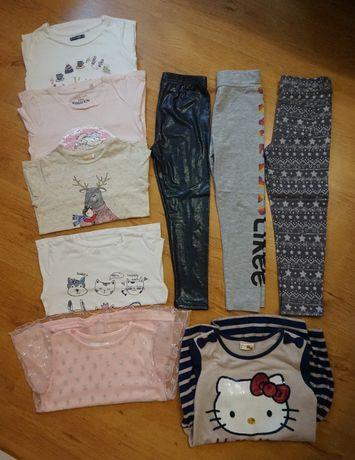 Paka paczka ubrań dziewczynka r. 116
