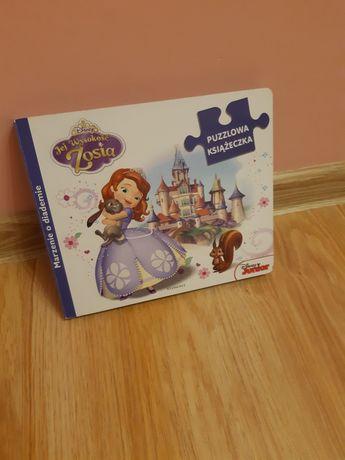 Książka bajka Jej wysokość Zosia z puzlami Disney Egmont dla małych