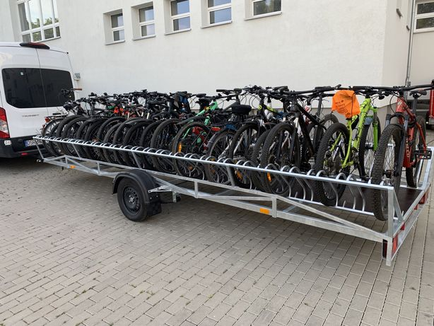 Wycieczki rowerowe przyczepa do transportu rowerów transport przewóz