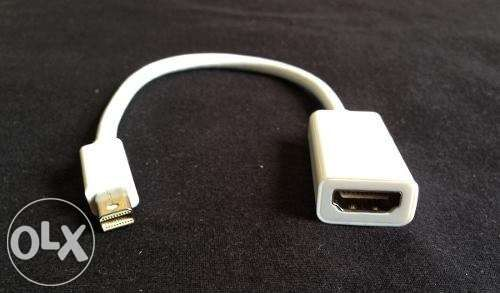 Adaptador mini displayport ou thunderbolt para hdmi para mac apple