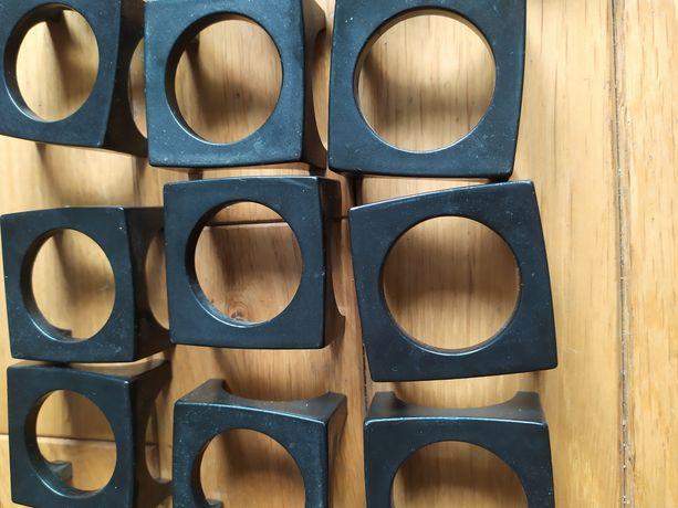 Uchwyty meblowe gałki kwadratowe czarne 11szt