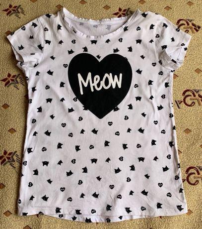 футболка на девочку р. 140