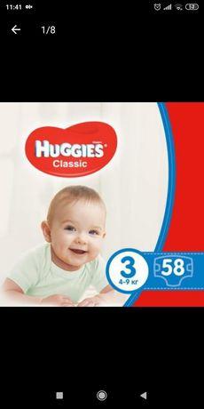 800!!Подгузник Huggies Classic 3 Jumbo 58 шт