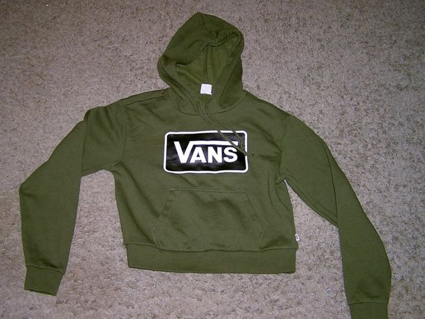 VANS_zielona bluza z kapturem oryginalna rozmiar XS