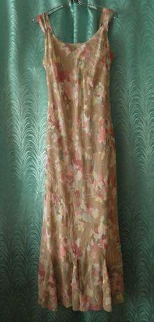 Длинный лёгкий сарафан нежной расцветки, 48 размера