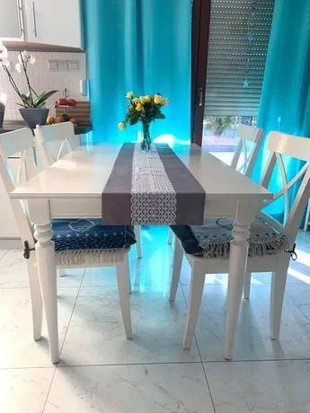 Stół biały, rozkładany,solidny, idealny stan, atrakcyjna cena.