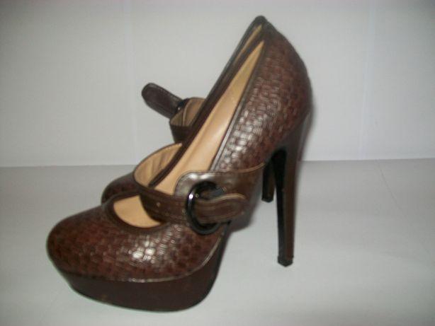 Piękne szpilki retro fason high heels 13 cm obcas rozmiar 37