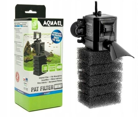 Filtr Aquael PAT MINI filtr wewnętrzny do akwarium 400 l/h NOWY