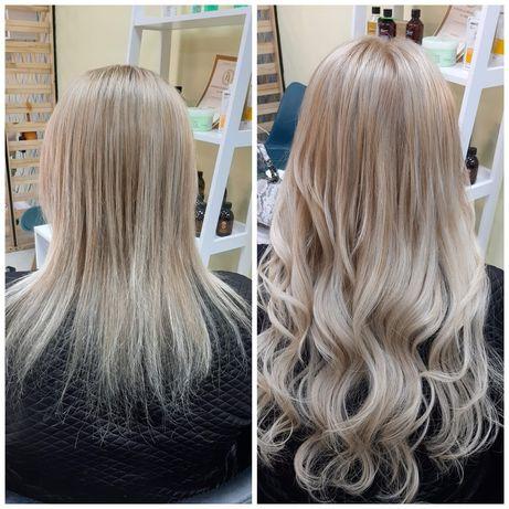 Наращивание волос 700 грн + стрижка в подарок