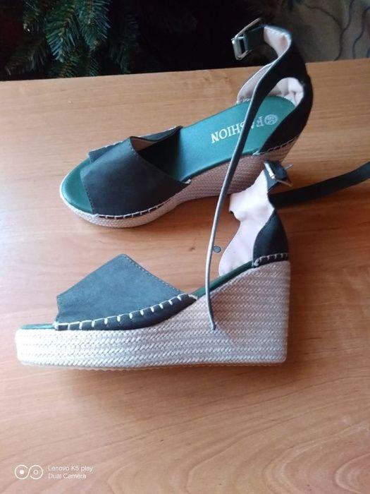 Buty na koturnie.SUPER rozmiar 35 Skoczów - image 1