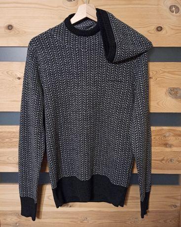 Dickies wełniany sweter z kapturem geometryczny
