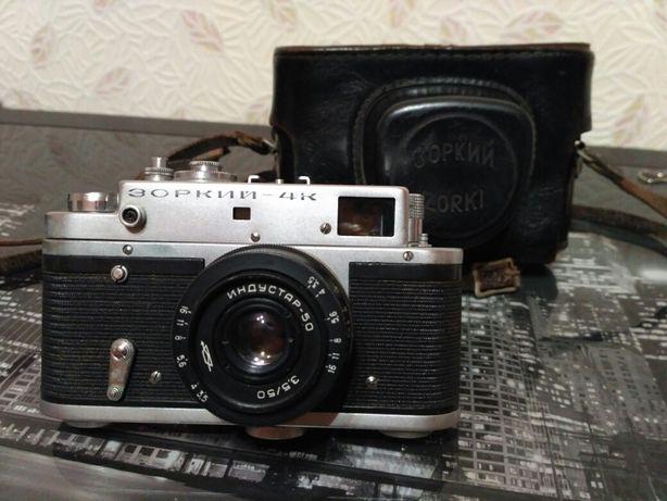 Зоркий-4К фотоаппарат. Объектив Индустар-50