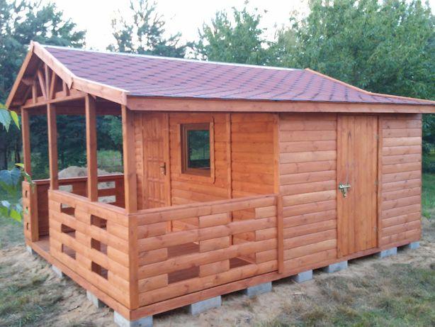 domek letniskowy drewniany altanka komórka 4x5m