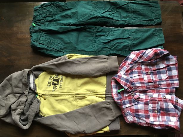 Пакет речей 110 Benetton, H&M на хлопця/ пакет вещей на мальчика