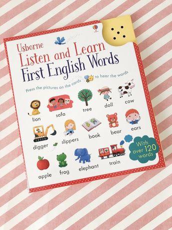 Listen and learn ,first english words ,Usborne  музыкальный планшет