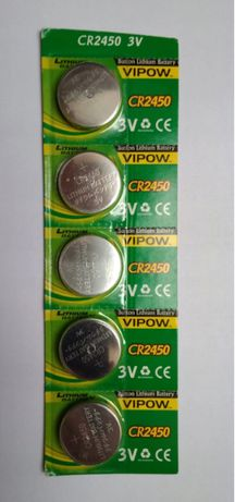 5 baterii litowych VIPOW CR2450 3V