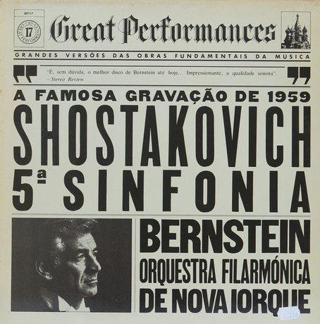 Vinil de Shostakovich 5ª Sinfonia, Leonard Bernstein