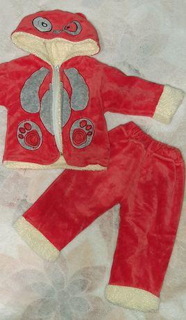 Теплий костюм,комбінезон,костюм в конверт 6-12міс