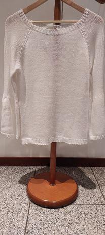 Camisola branca de malha
