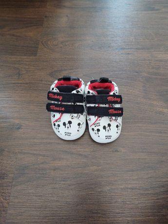 Niechodki, buciki, niemowlę, rozmiar 19, 11cm, myszka Miki, Primark