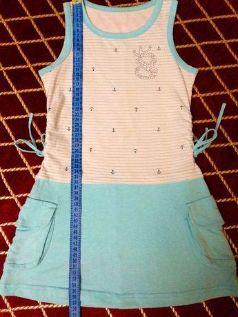 Хлопковое платье 122-128