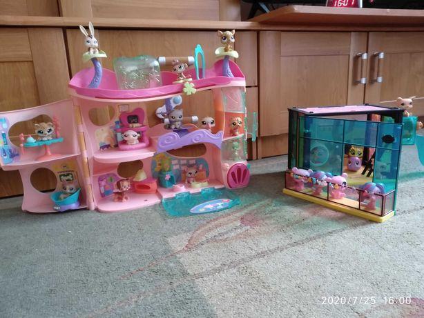 Centrum adopcyjne Littlest Pet Shop i Stylowa Bawialnia LPS