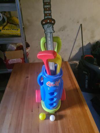 Zabawka kije do golfa i piłeczki