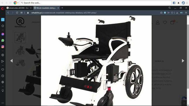 Wózek elektryczny składany nowy