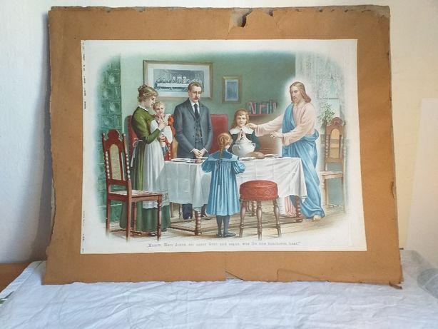 Starodruk Obraz o tematyce religijnej mistrzowski