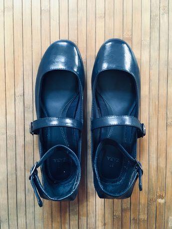 Sapatos Azuis Zara com tira no tornozelo