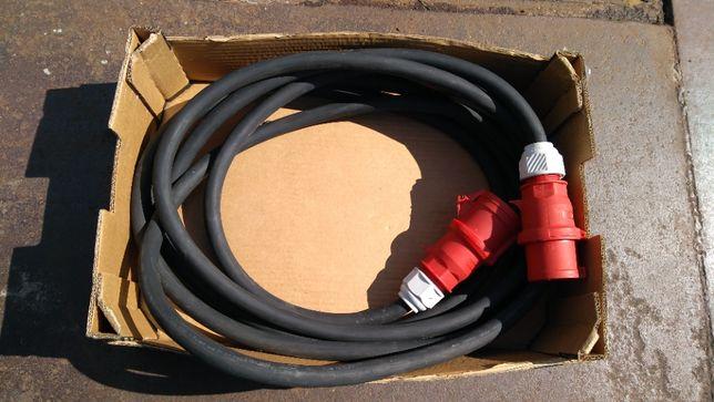 Przedłużacz w gumie 400 V, długości 10 m, przekrój 4x16mm w miedzi