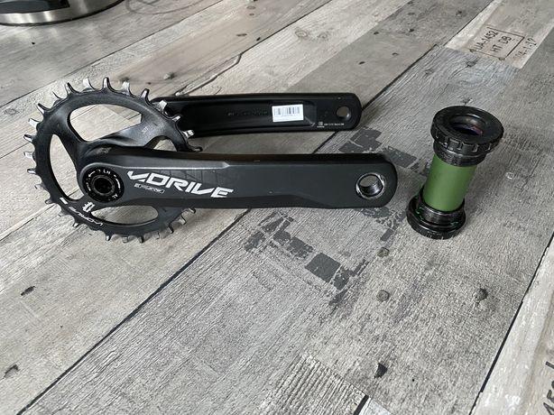 Korba FSA V-Drive + Suport stan idealny 30T 175mm NW Enduro