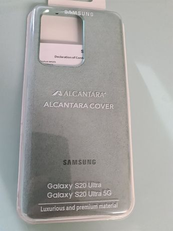 Samsung galaxy S20 ultra 5G e S20+ Capa de camurça - NOVAS