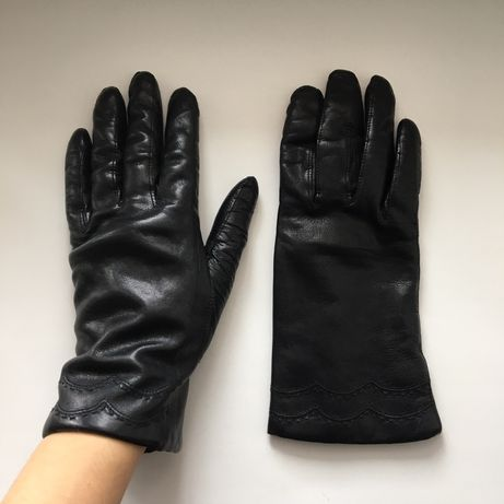 Утеплённые кожаные перчатки made in Italy