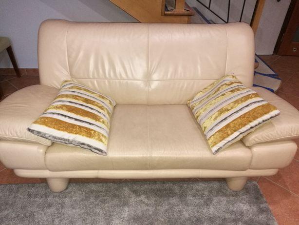 Sofa nierozkładana, skórzana