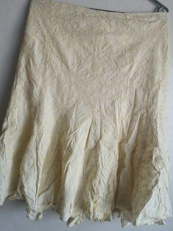 Spódnica długa żółta