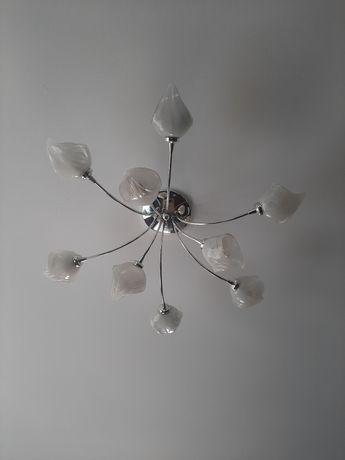 Zestaw oświetlenia, 3 żyrandole 75 cm, 50 cm i 50 cm oraz 2 kinkiety