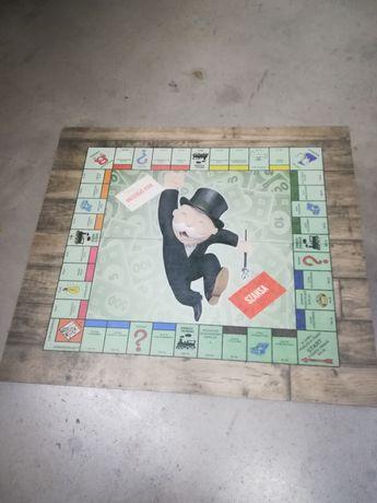 Monopoly plansza PL drewniana duża