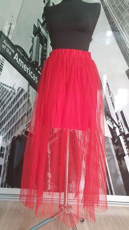 Spódnica w kolorze czerwonym, firmy HM, ubrana tylko raz, dobry stan