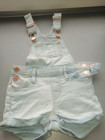 Ogrodniczki jeans h&m 92